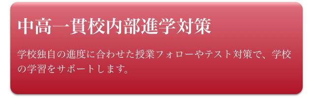 中学生(中高一貫校内部進学対策)