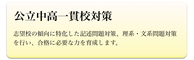小学生(公立中高一貫校対策)