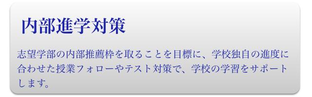 高校生(内部進学対策)